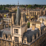 An aerial of view of Cambridge city centre
